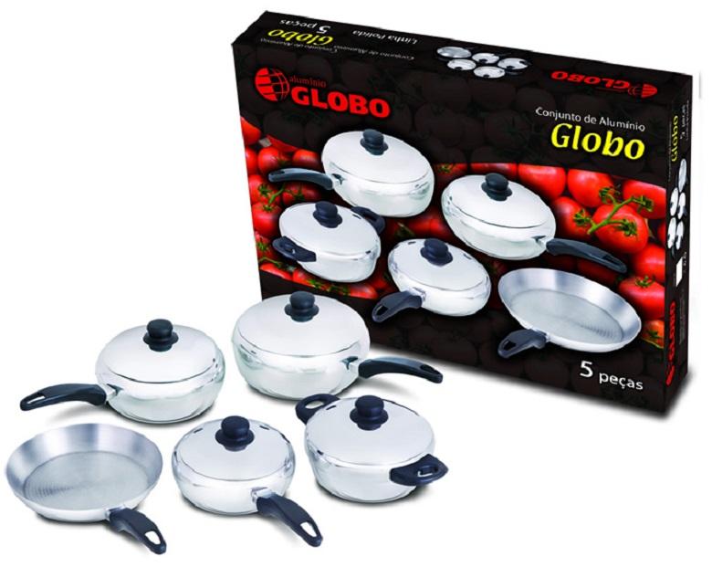 Conjunto Globo 5 peças Panelas Globo