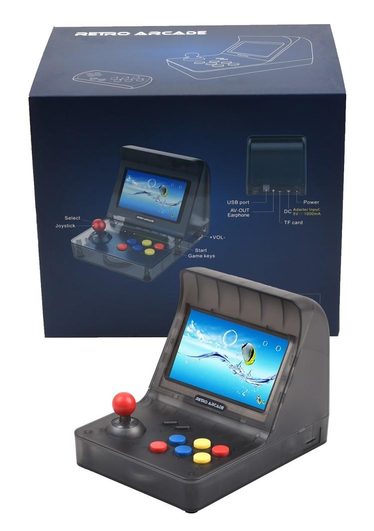"""Console Retro Arcade CT-886 Mini Fliperama Tela 4.3"""" + 3.000 Jogos com 2 controles"""