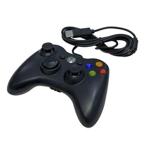 Controle com fio Xbox USB Preto -