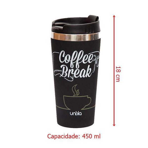 Copo Térmico Emborrachado Coffee Break 450ml