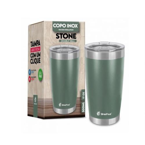 Copo Térmico Stone Verde Militar 500 Ml