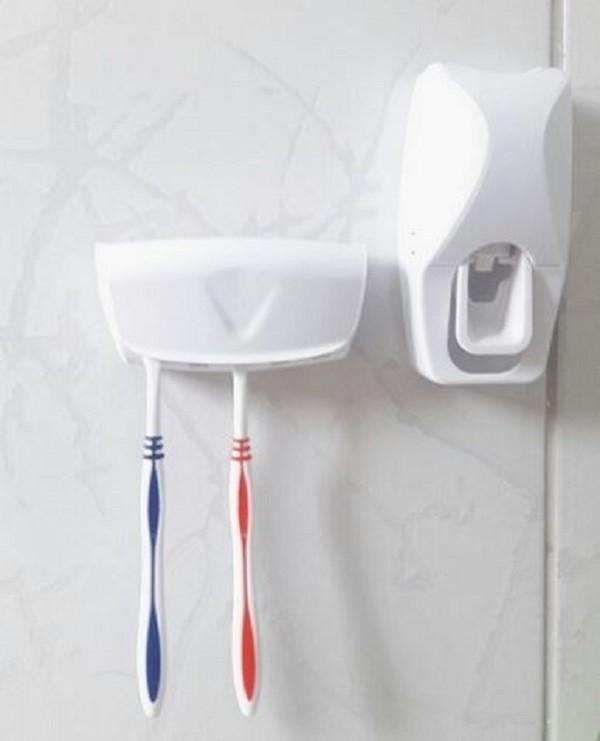 Porta  Creme Dental Com Suporte Para 5 Escovas