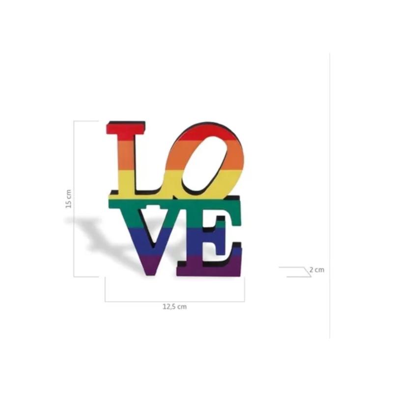 Escultura Enfeite De Mesa Love Wins Geguton