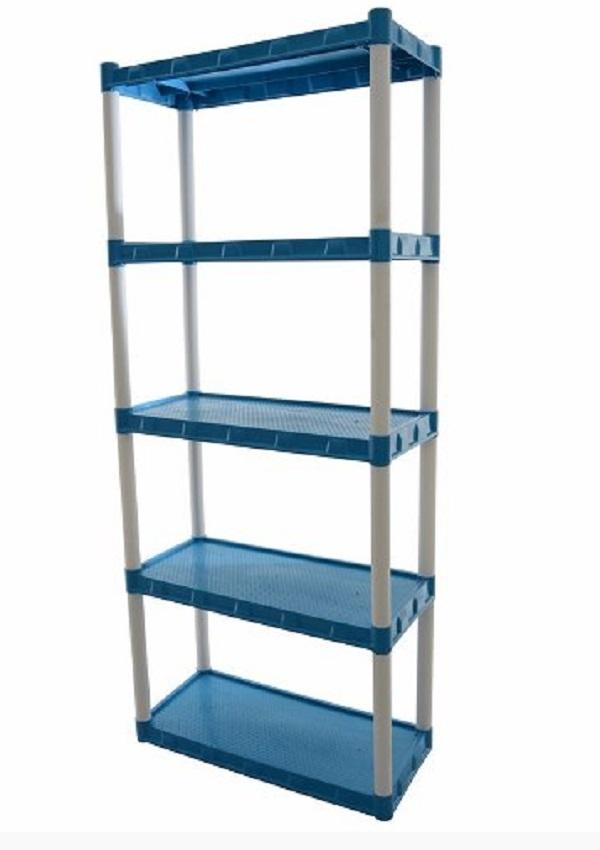 Estante Plástica  Azul Com 5 Prateleiras Agraplast