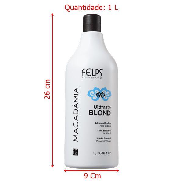 Felps Professional Macadâmia Ultimate Blonde - Selagem Térmica 1L