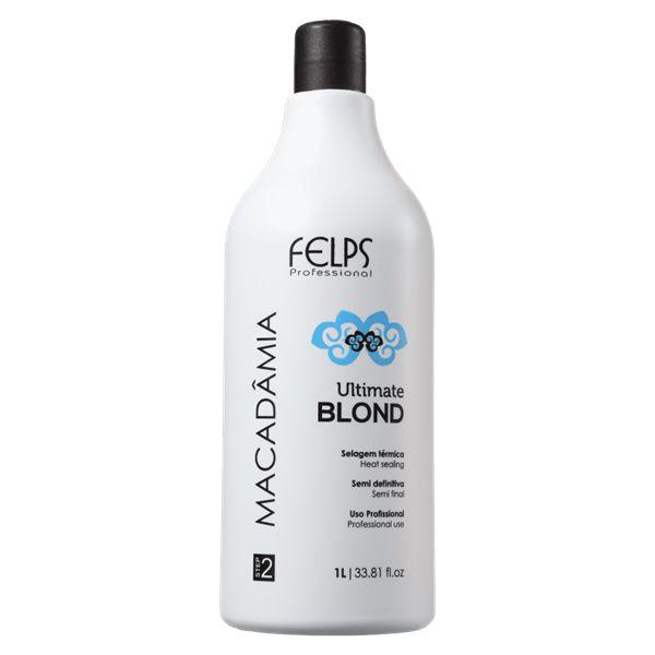 Felps Profissional Macadâmia Ultimate Blond Selagem Térmica 1000ml