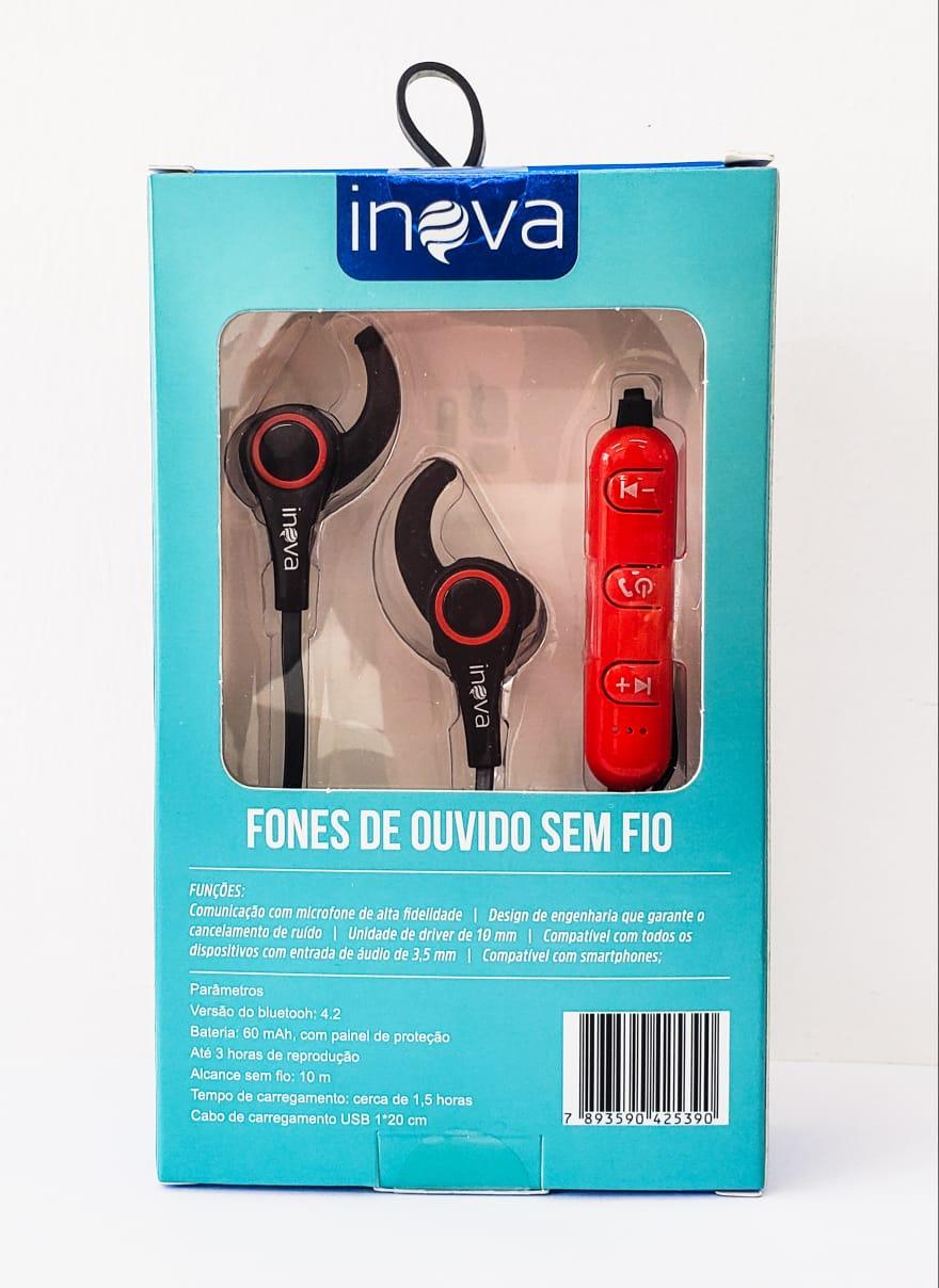 Fones de Ouvido Wireless (sem fio) Inova - FON-8510