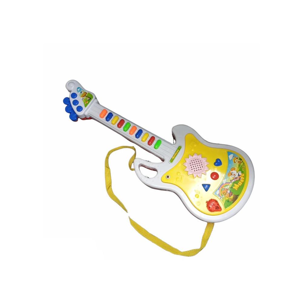 Guitarra Infantil Com Microfone Luz e Som