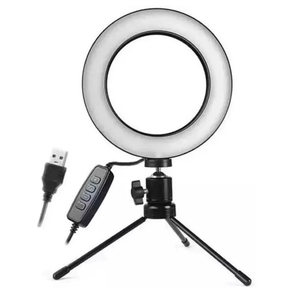 highlight de Led com Tripe Ring Light USB