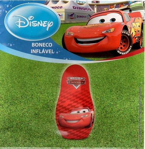 João bobo carros Disney Boneco Inflável