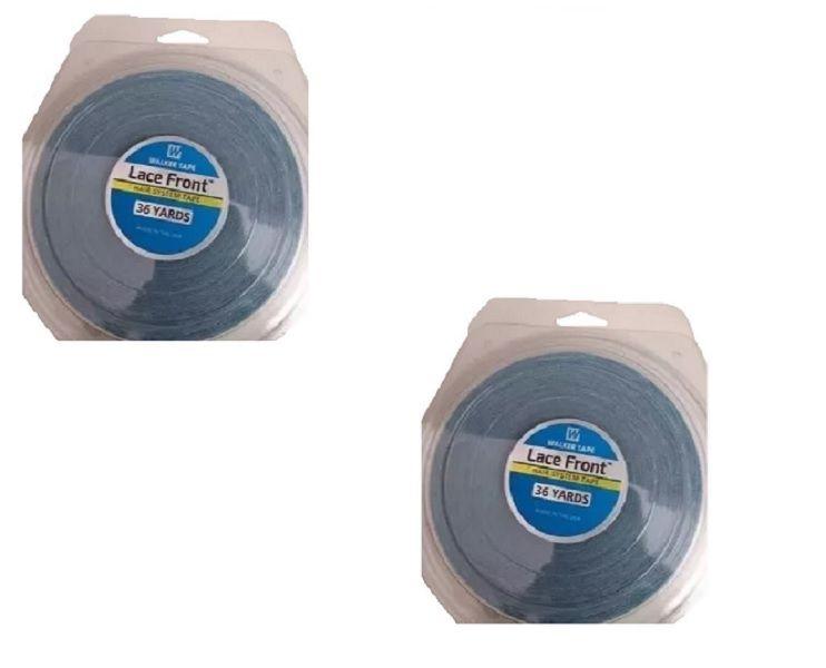 Kit 2 Fita Adesiva Prótese Capilar Mega Hair 2,5 Metros 2,4 Cm