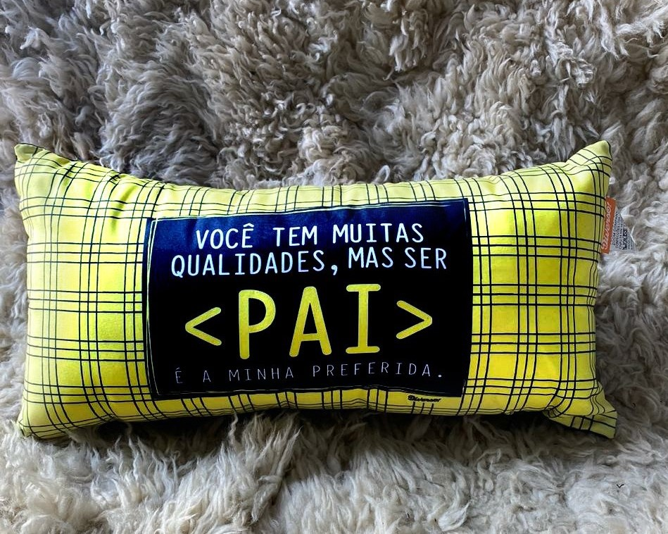 Almofada Pai + Avental com Toalhinha Pai Qualidades