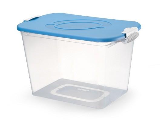 Kit Com 2 Caixa Organizadora 30 Litros Transparente