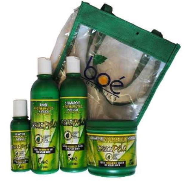 Crece Pelo kit  Shampoo Condicionador Máscara Leave-in