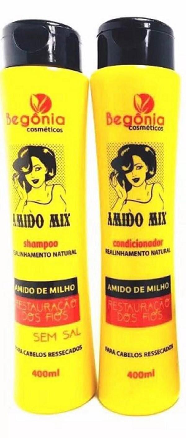 Kit Shampoo e Condicionador 400 ml Amido Mix