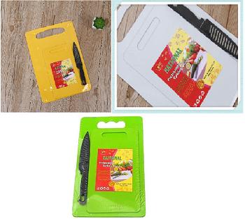 kit 3 Tabua De Plástico Para Alimentos Legumes Carne