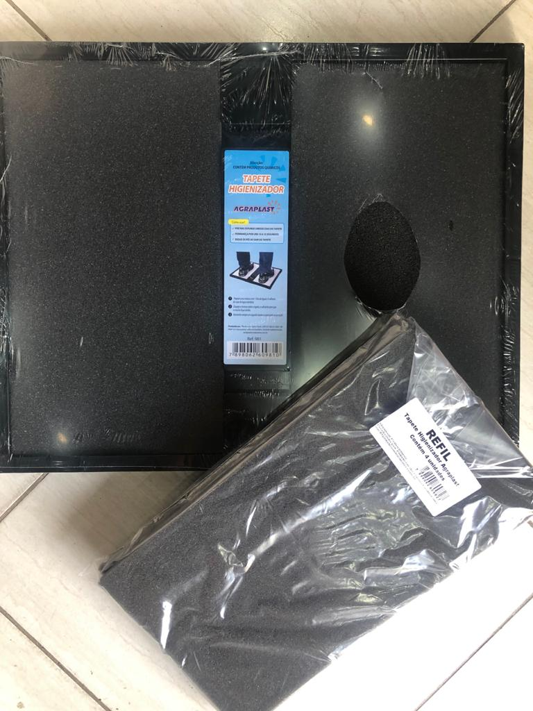 Kit Tapete Higienizador E Refil De Espumas Agraplast