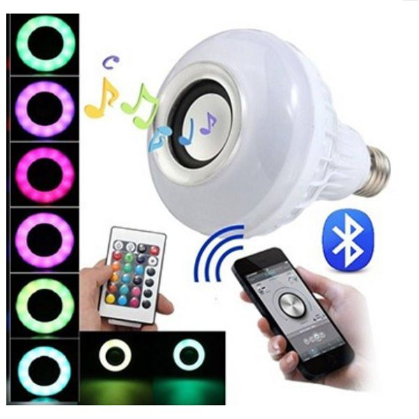 Lâmpada Led Caixa De Som Bluetooth Musical Com Controle