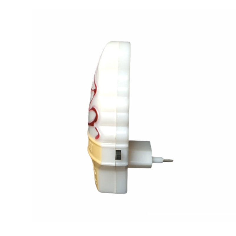 Mini Luminária Abajur De Tomada Infantil Noturna Sorvete
