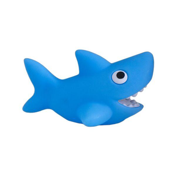 luminária Abajur Tubarão Azul
