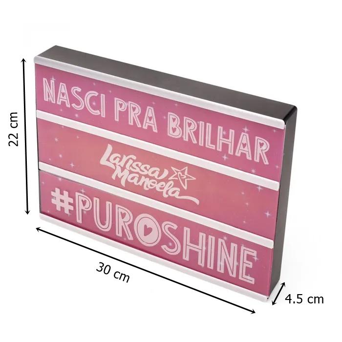 Luminária customizável Larissa Manoela