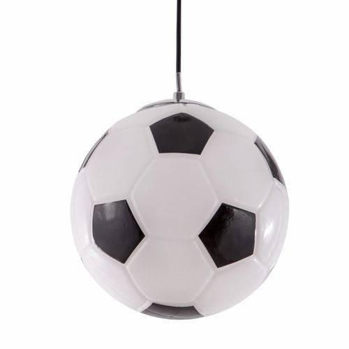 Luminária Pendente Bola Futebol Natural - Usare