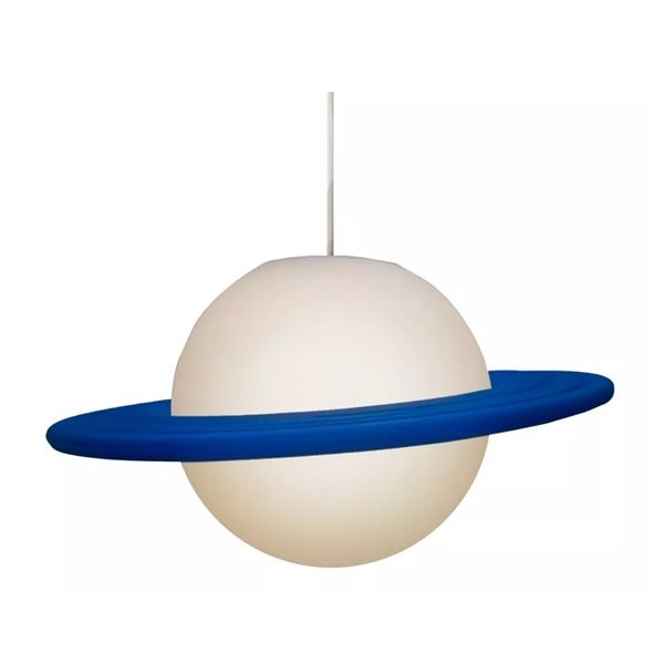 Luminária Pendente Saturno Azul