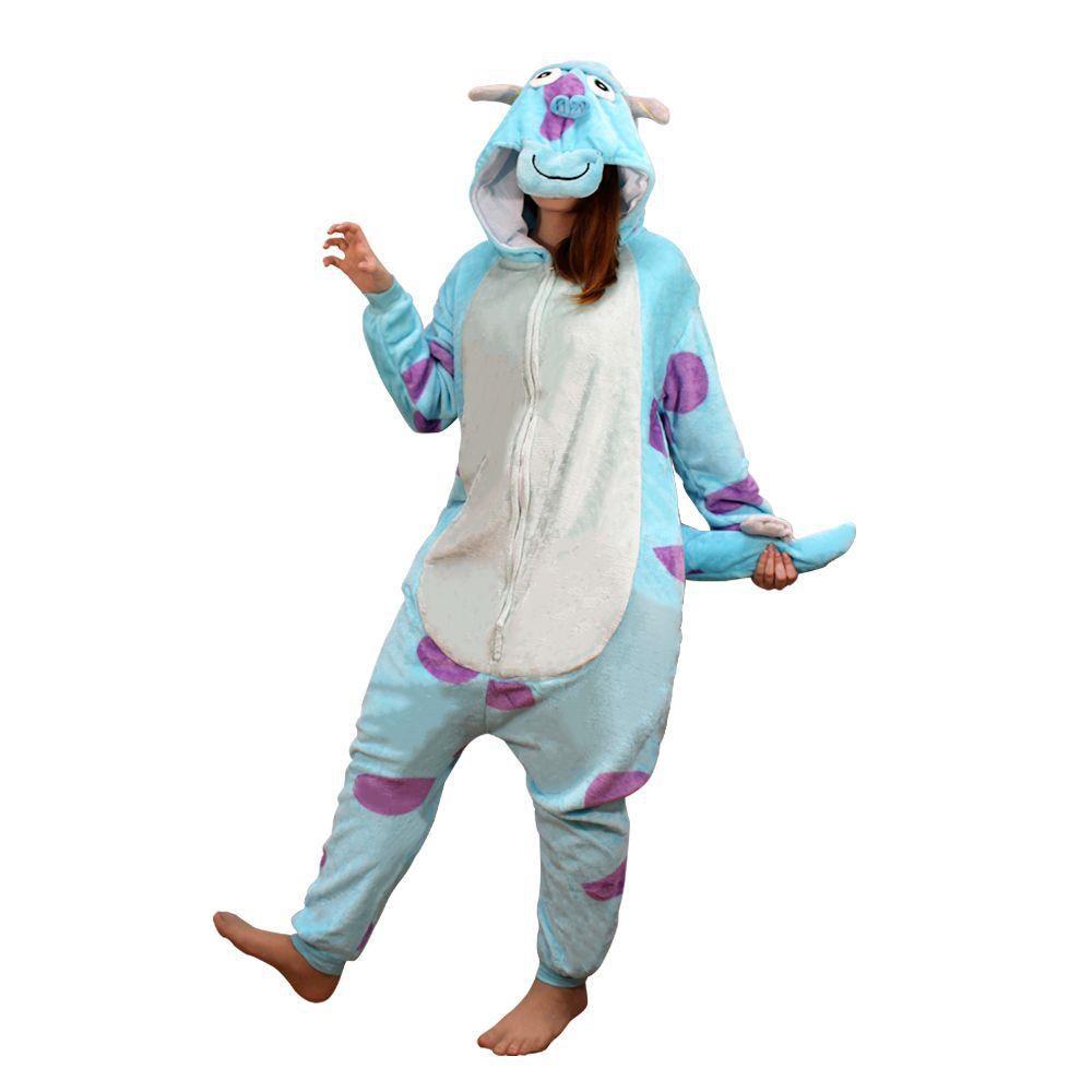 Pijama Macacão Quigurumi Sulley