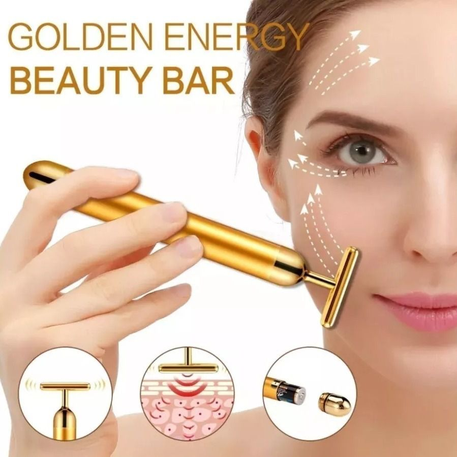 Massageador Facial Vibrata Gold Harmonização Energy Beauty