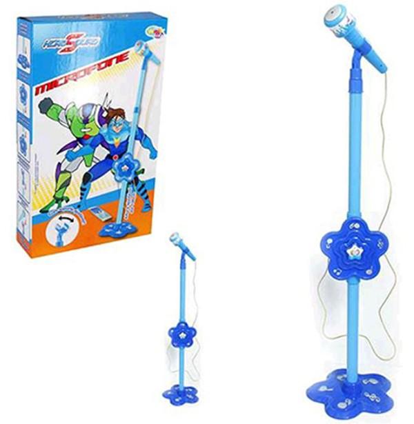 Microfone infantil com pedestal Hero Squad Conecta Com Celular