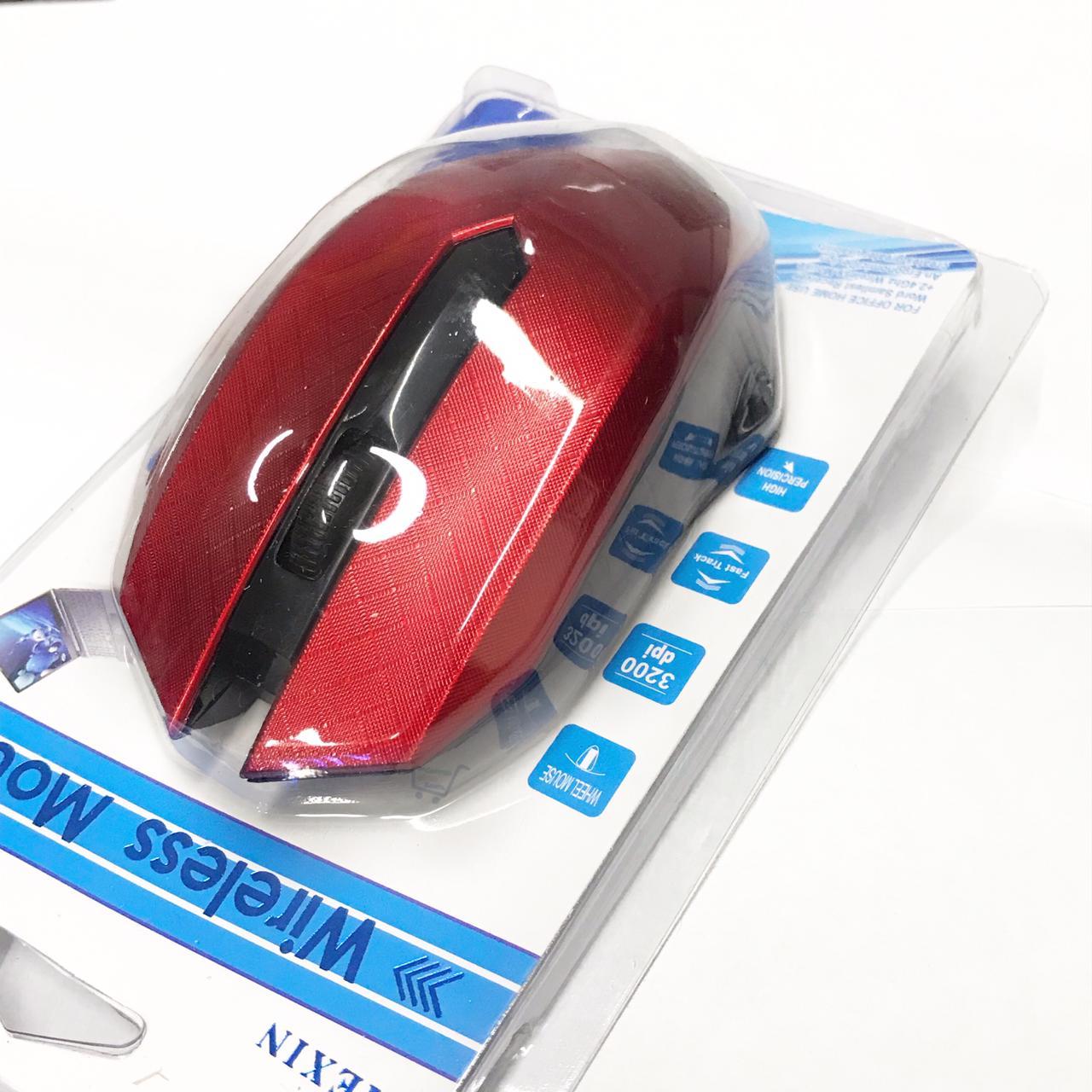 Mouse Wireless Sem Fio Pegada Confortável 2.4ghz Jiexin Alcance 10m