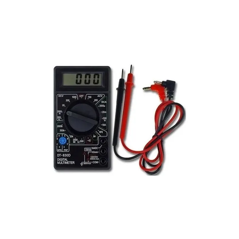 Multímetro Digital Dt-830b Portátil Profissional Com Cabo