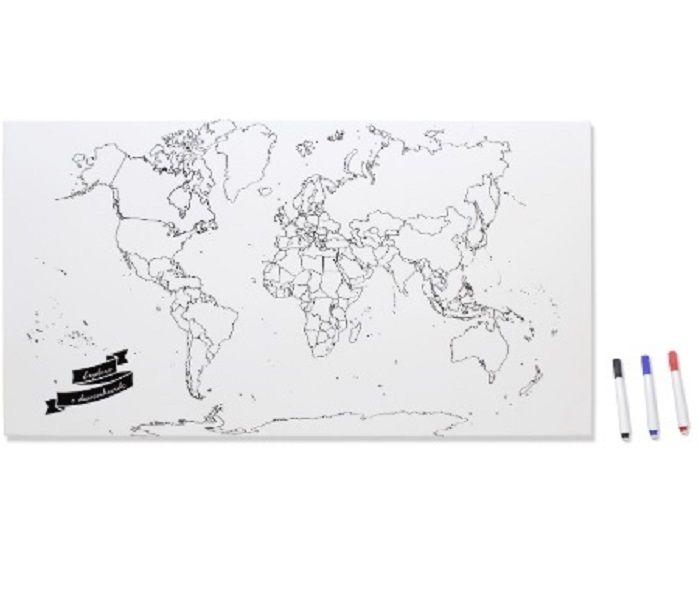 Mural mapa mundi para pintar mimos presentes criativos - Mural mapa mundi ...