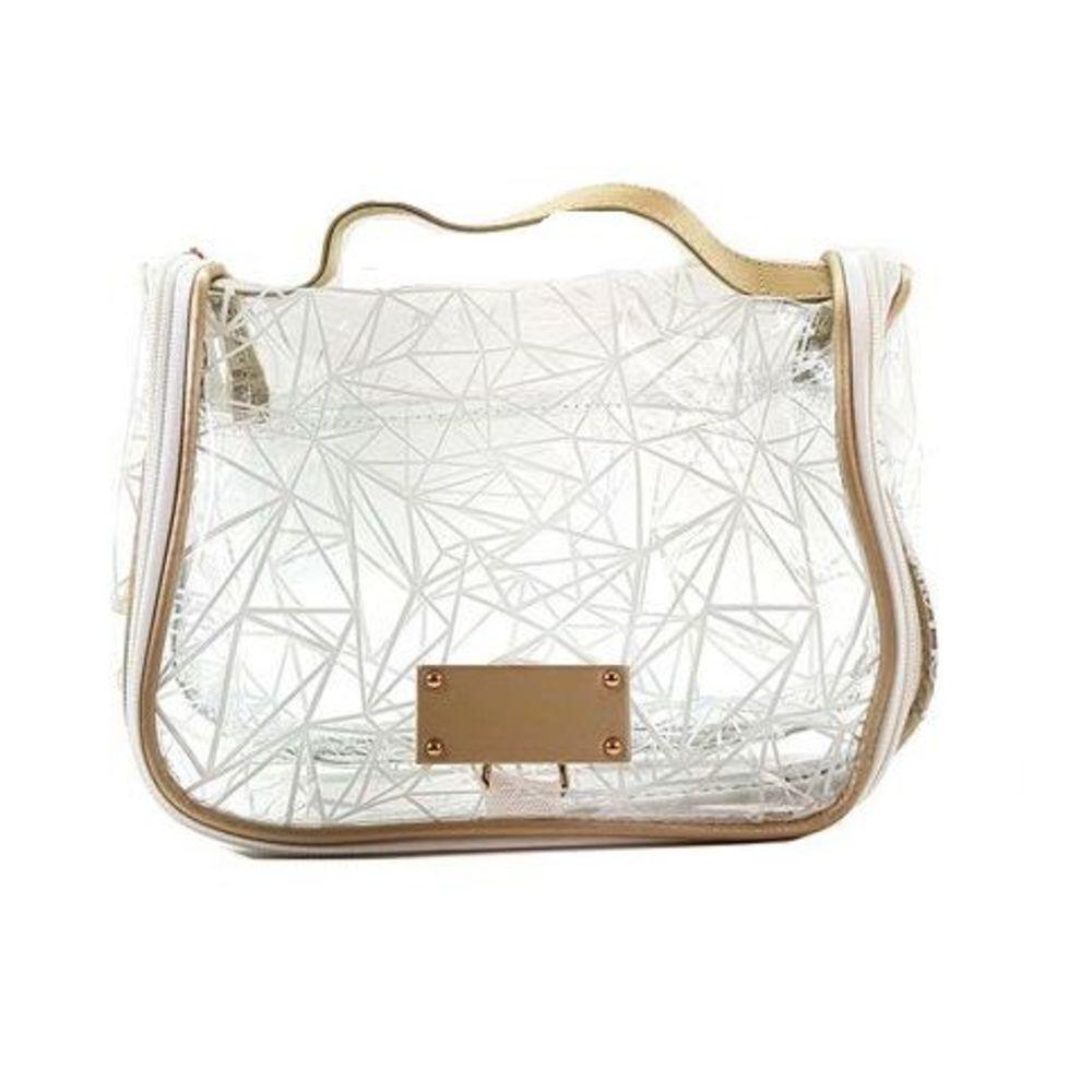 Necessaire Crystal Transparente Jacki Design
