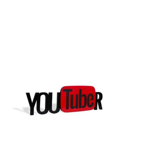 Palavra Decorativa Youtuber