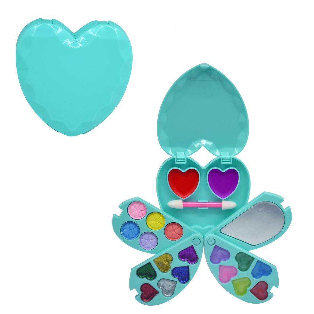 Paleta De Maquiagem Infantil Coração Discoteen Kit