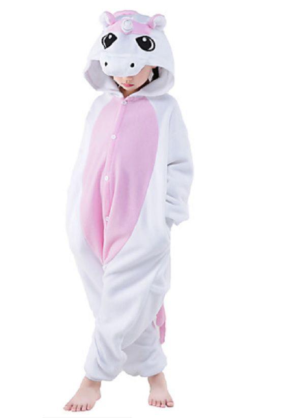 Pijama Macacão de Unicórnio Infantil Rosa