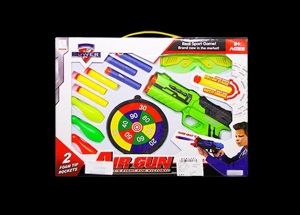 pistola lançadora com acessórios infantil