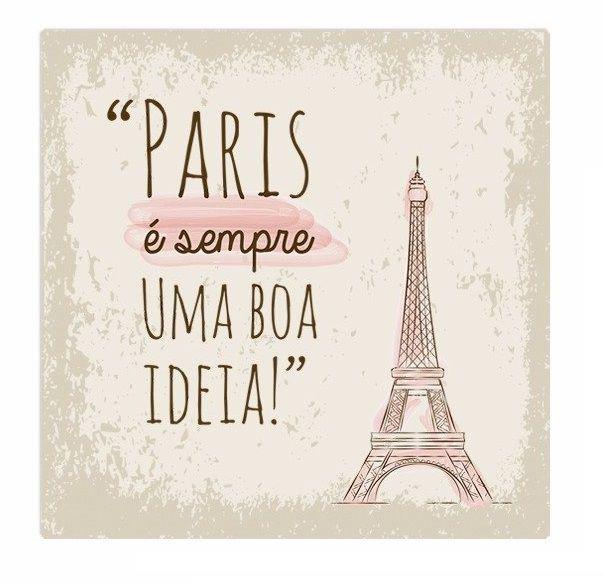 Placa Paris é sempre uma boa ideia