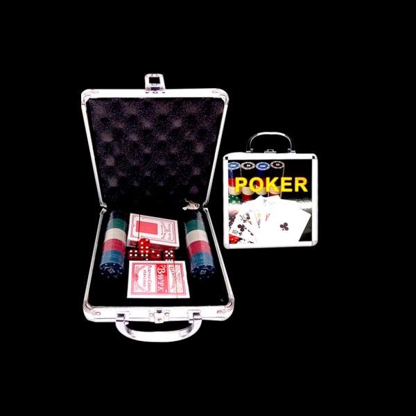 Poker Kit Com 100 Fichas 2 Baralhos