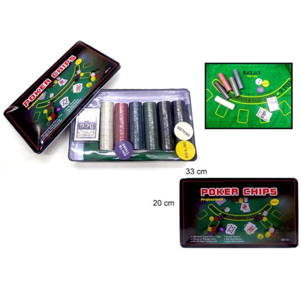 Poker Kit Com Forro De Mesa Fichas E Baralho