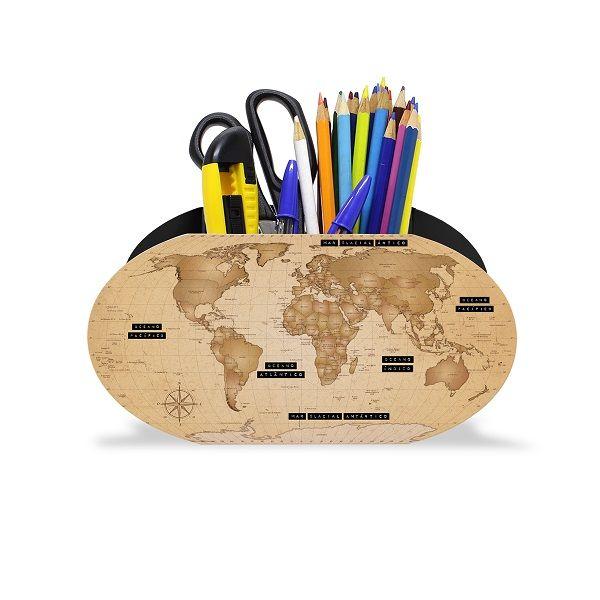 Porta Lápis Mapa Mundi Explore
