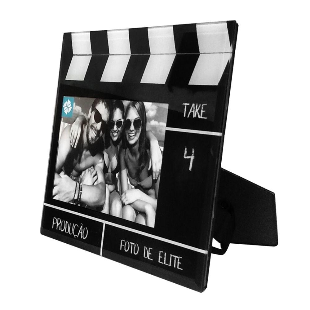 Porta Retrato De Vidro Claquete Filme