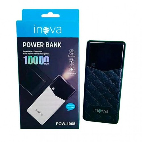 Power Bank Inova 10.000mah Pow-1068 Visor Led