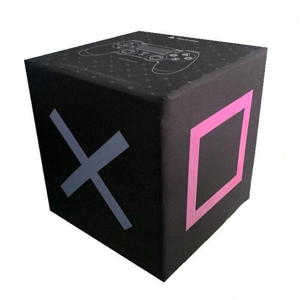 Pufe Puff Quadrado Decorativo Playstation Kathavento