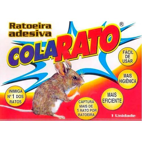 Ratoeira Adesiva Pega Cola Rato - Kit com 5 Unidades