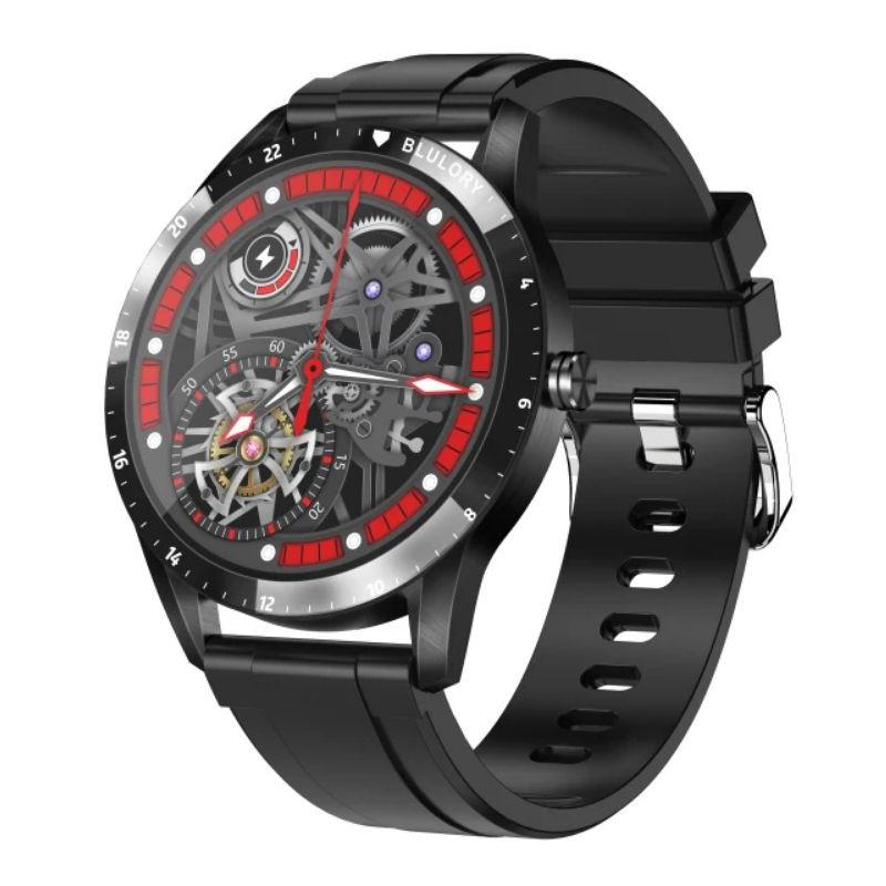 Relógio Inteligente Redondo Smartwatch Blulory Bw10 Preto