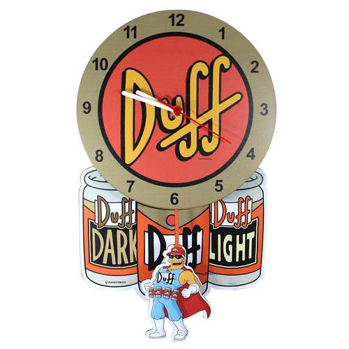 Relógio Pendulo Duff Beer - Simpson