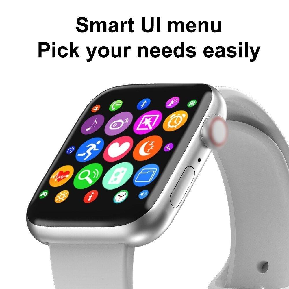 """Relógio Smartwatch IWO 12 Lite W26 Preto Tela Infinita com Pulseira Milanese Inclusa Tela 1.75"""""""