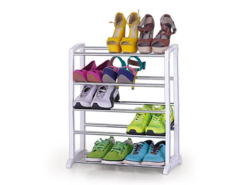 Sapateira 15 Pares Desmontável Ampliavel Grande Estante Vertical Organizadora de Sapatos e Tênis